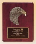 Antique Eagle Rosewood Piano Finish Plaque Cast Relief Plaques