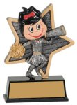 Female Cheer Little Pals Resin Trophy Cheerleading Awards