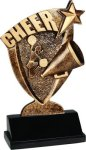Cheer Broadcast Resin Cheerleading Trophy Awards