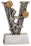 Cheer V Series Resin Cheerleading Trophy Awards