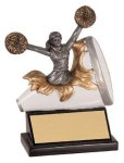Female Cheer Xploding Resin  Cheerleading Trophy Awards