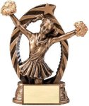 Antique Bronze and Gold Cheer Award Cheerleading Trophy Awards