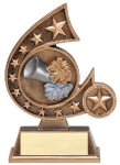 Resin Comet Series Cheerlead Cheerleading Trophy Awards