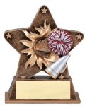 Star Burst Resin Cheerleading Cheerleading Trophy Awards