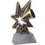 Cheer Bobble Resin Cheerleading Trophy Awards