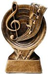 Music Resin Trophy Circle Backdrop Resin Trophies