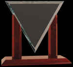 Diamond Triangle Glass Award Clear Glass Awards