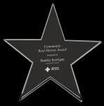 Large Star Glass Award Clear Glass Awards