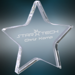 Crystal Star Paperweight Clear Optical Crystal Awards