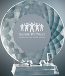 Crystal Plate with Base Clear Optical Crystal Awards