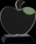 Crystal Apple with Base Clear Optical Crystal Awards