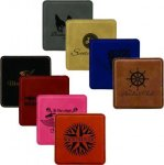 Leatherette Square Coaster Coasters