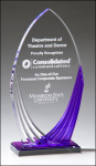 Tidal Series Acrylic With Violet Accent Colored Acrylic Awards