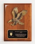 Walnut Piano Finish Eagle Plaque Eagle Awards