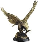 Eagle In-Flight On Base Eagle Resin Trophy Awards