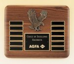 Eagle American Walnut Perpetual Plaque Eagle Trophy Awards