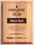 Red Alder Recognition Plaque Employee Awards