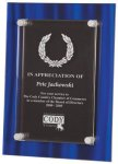 Blue Velvet Acrylic Plaque Award Employee Awards