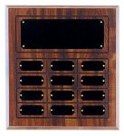 Perpetual Plaque with 12 Plates Employee Awards
