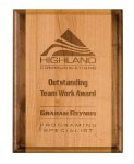 Genuine Red Alder Plaque Employee Awards