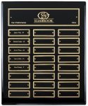 Ebony Perpetual Plaque Employee Awards