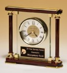Piano-Finish Mantle Clock Employee Awards