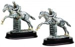 Horse Jumping Resin Figure Equestrian Trophy Awards