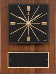 Walnut Wall Clock Plaque Executive Gift Awards