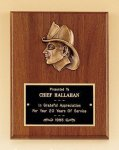 Fireman Award with Antique Bronze Finish Casting. Fire and Safety Awards