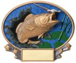 Motion X Oval Bass Fishing Trophy Awards