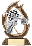 Flame Series Motorcycle Flame Resin Trophy Awards