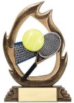Flame Series Tennis Flame Resin Trophy Awards