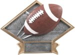 Football Diamond Plate Resin  Football Trophy Awards