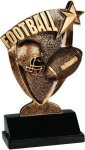 Football Broadcast Resin Football Trophy Awards