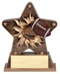 Star Burst Resin Football Football Trophy Awards