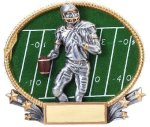 3D Oval Football M Football Trophy Awards