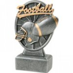 Pinwheel Script Football Resin Football Trophy Awards