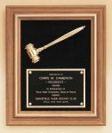 American Walnut Frame Gavel Plaque Gavel Plaques