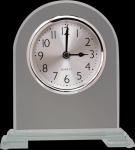 Arch Clear Glass Clock With Split Step Base Glass Clocks