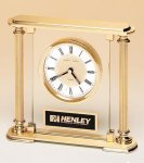 Traditionally Styled Desk Clock Glass Clocks
