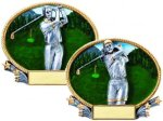 3D Oval Golf Golf Awards