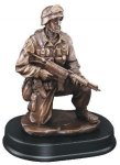 Soldier Kneeling With Rifle Down Military Trophy Awards