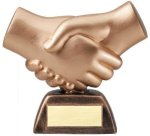 Resin Hand Shake Misc. Resin Trophy Awards