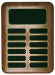 Elliptical Walnut Perpetual Plaque Monthly Perpetual Plaques