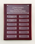 Rosewood High Gloss Perpetual Plaque Monthly Perpetual Plaques