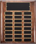Genuine American Walnut Perpetual Plaque Monthly Perpetual Plaques