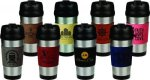 Stainless Steel Travel Mug with Leatherette Grip Mugs, Koozies, & Glasses