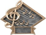 Music Diamond Plate Resin  Music Trophy Awards
