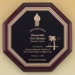 Octagonal Rosewood Piano Finish Plaque Octagon Awards