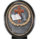 Religious Resin Oval Oval Resin Trophy Awards